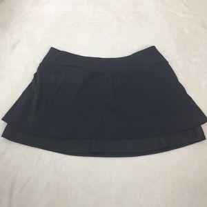Athleta Gray Skort Shorts with Layers and Pocket L